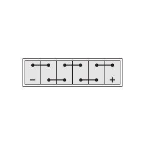 IPSA TP110 Starterbatterie OEM - 61218376384 BMW, MINI günstig