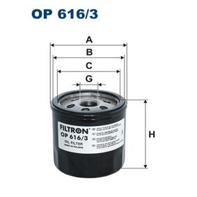 Ölfilter FILTRON (OP 616/3) für VW GOLF Preise