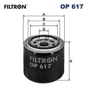 Filtro de aceite FILTRON OP 617 populares para MITSUBISHI MONTERO SPORT 3.0 V6 170 CV