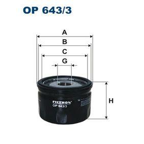 OP 643/3 FILTRON Ölfilter - RENAULT SCÉNIC 09.1999