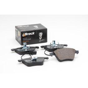 BRECK Bremsbelagsatz, Scheibenbremse 8E0698151L für VW, AUDI, SKODA, SEAT, PORSCHE bestellen