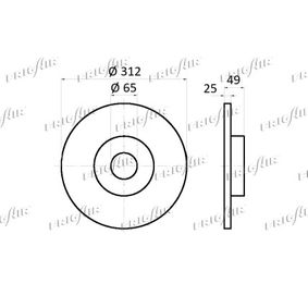 FRIGAIR Disc frana 5Q0615301F pentru VW, AUDI, SKODA, SEAT cumpără