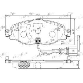 8V0698151D pour VOLKSWAGEN, AUDI, SEAT, SKODA, Kit de plaquettes de frein, frein à disque FRIGAIR (PD10.519) Boutique en ligne