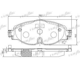FRIGAIR PD10.519 Kit de plaquettes de frein, frein à disque OEM - 5Q0698151B AUDI, SEAT, SKODA, VW, VAG, OEMparts à bon prix