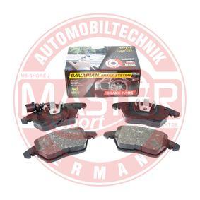 Kit de plaquettes de frein, frein à disque MASTER-SPORT Art.No - K6072262 OEM: 8J0698151C pour VOLKSWAGEN, AUDI, SEAT, SKODA récuperer