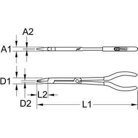 500.7161 Flachzange von KS TOOLS Qualitäts Werkzeuge