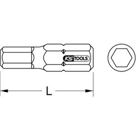 Punta de atornillar 918.3401 KS TOOLS