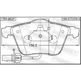 FEBEST Bremsbelagsatz, Scheibenbremse 4F0698151B für VW, AUDI, SKODA, SEAT bestellen