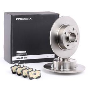 TWINGO II (CN0_) RIDEX Bremsscheiben und Klötze 3405B0357