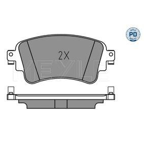 MEYLE Kit de plaquettes de frein, frein à disque 8W0698451N pour VOLKSWAGEN, AUDI, SEAT, SKODA acheter