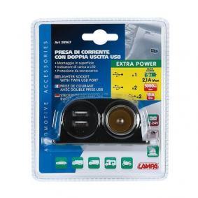 Kabel do ładowarki, zapalniczka samochodowa do samochodów marki LAMPA - w niskiej cenie