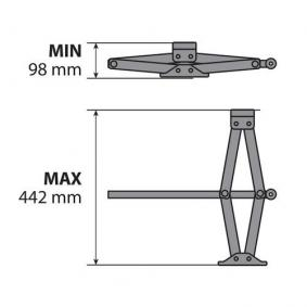 71501 Jack for vehicles
