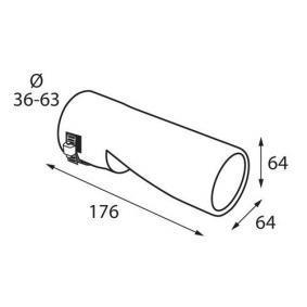 60117 Deflector tubo de escape para vehículos