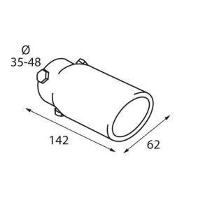 Deflector do tubo de escape para automóveis de PILOT - preço baixo