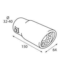 Накрайник за тръбата на аспуха за автомобили от PILOT - ниска цена