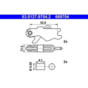 Zubehörsatz, Bremsbacken ATE (03.0137-9704.2) für VW CRAFTER Preise