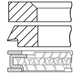 Kolbenringsatz GOETZE ENGINE Art.No - 08-704200-00 OEM: 11251727461 für BMW kaufen