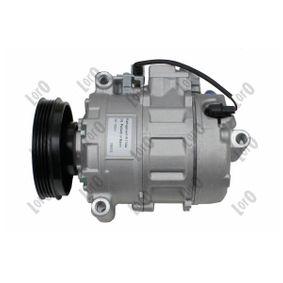 Compresor, aire acondicionado ABAKUS Art.No - 003-023-0008 OEM: 4B0260805G para VOLKSWAGEN, SEAT, AUDI, VOLVO, SKODA obtener