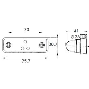 40164013 Begrenzungsleuchte von PROPLAST Qualitäts Ersatzteile