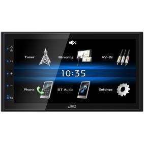 Multimedia-vastaanotin autoihin JVC-merkiltä: tilaa netistä