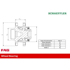 Radlagersatz FAG Art.No - 713 6792 90 OEM: 2102498 für FORD kaufen