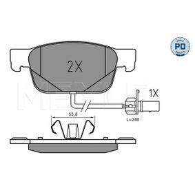 Bremsbelagsatz, Scheibenbremse MEYLE Art.No - 025 223 8317/PD OEM: 8W0698151AG für VW, AUDI, SKODA, SEAT kaufen