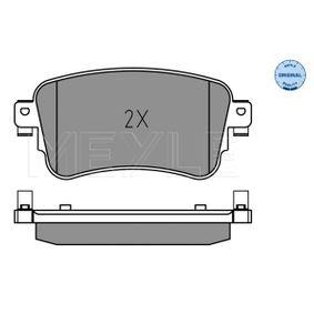 Brake Pad Set, disc brake MEYLE Art.No - 025 225 8818 OEM: SU001A6136 for TOYOTA, LEXUS buy