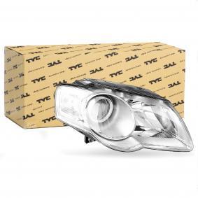 TYC Headlight Right, H7 / H7 2506450311164 rating