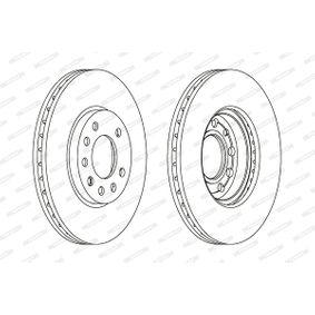 FERODO Disc frana punte fata, Ř: 280mm, ventilat 5016687210996 nota