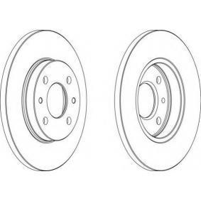 Bremsscheibe FERODO Art.No - DDF125-1 OEM: 71738423 für FIAT, LANCIA, ISUZU, AUTOBIANCHI, INNOCENTI kaufen