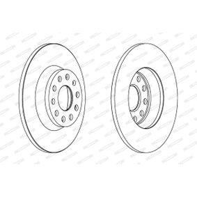FERODO Bremsscheibe 1K0615601AD für VW, AUDI, SKODA, MAZDA, SEAT bestellen