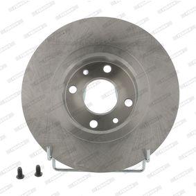 FERODO спирачен диск предна ос, Ø: 257мм, плътен DDF141 в оригиналното качество