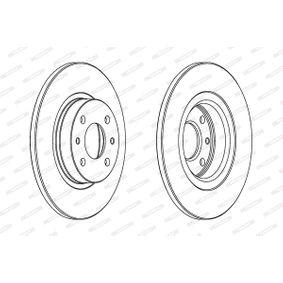 FERODO спирачен диск предна ос, Ø: 257мм, плътен 5016687114195 оценка
