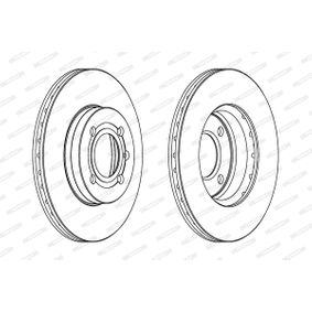 Bremsscheibe FERODO Art.No - DDF207 OEM: 357615301D für VW, AUDI, SKODA, SEAT kaufen