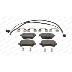 Bremsbelagsatz, Scheibenbremse FERODO Art.No - FDB1408 OEM: 3D0698451 für VW, AUDI, SKODA, SEAT kaufen