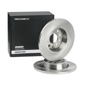 1K0615601AD за VW, AUDI, MAZDA, SKODA, SEAT, Спирачен диск RIDEX (82B2474) Онлайн магазин