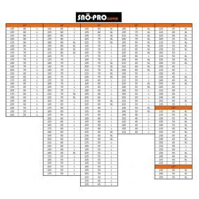 Pokrowce na opony do samochodów marki SNO-PRO - w niskiej cenie