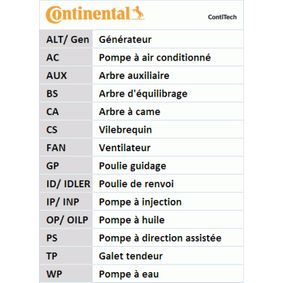 Poly v-belt kit CONTITECH (7PK2061K1) for HONDA CIVIC Prices