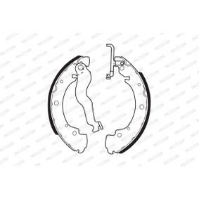 Bremsbackensatz FERODO Art.No - FSB428 OEM: 701609531D für VW, AUDI, SKODA, SEAT, VAUXHALL kaufen