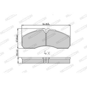 FERODO Bremsbelagsatz, Scheibenbremse 42536101 für VW, RENAULT, FIAT, IVECO, RENAULT TRUCKS bestellen