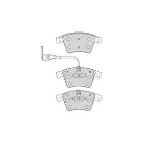 Bremsbelagsatz, Scheibenbremse FERODO Art.No - FVR1643 kaufen