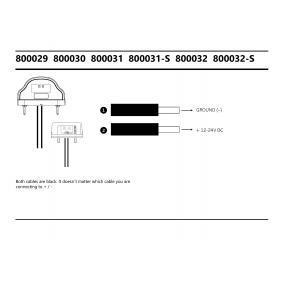 STRANDS Nummernschildbeleuchtung 800032-S