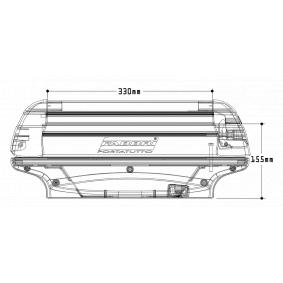 FABBRI Suksi- / lumilautapidike, kattoteline 6940004