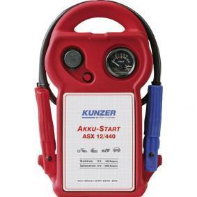 Battery, start-assist device for cars from KUNZER: order online