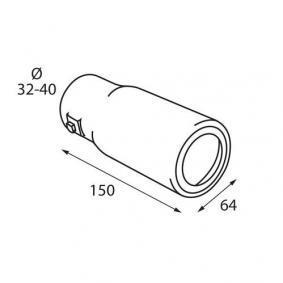 60104 Deflector tubo de escape para vehículos