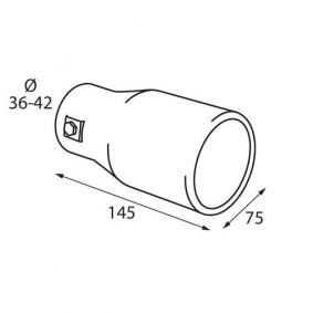60089 Exhaust Tip for vehicles