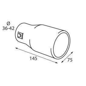 60089 Deflector do tubo de escape para veículos