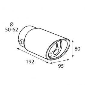 60023 Exhaust Tip for vehicles