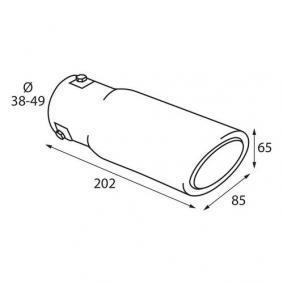 60078 Deflector tubo de escape para vehículos