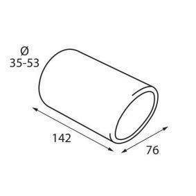 60024 Deflector tubo de escape para vehículos